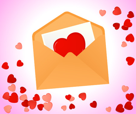 Love message, vector illustration, EPS file included Vector