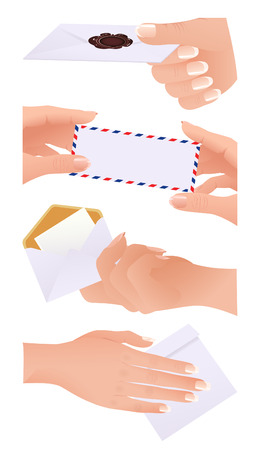 Envelope collection,  vector illustration, EPS file included Stock Vector - 6570683