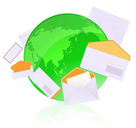 greenpeace: Global communication, vector illustration, EPS file included