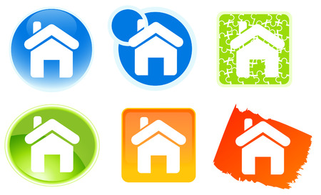 Home icons,  vector illustration, EPS file included Stock Vector - 6570684