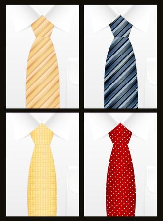 Colored tie set Vector