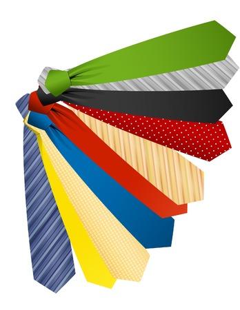 Colored ties Vector
