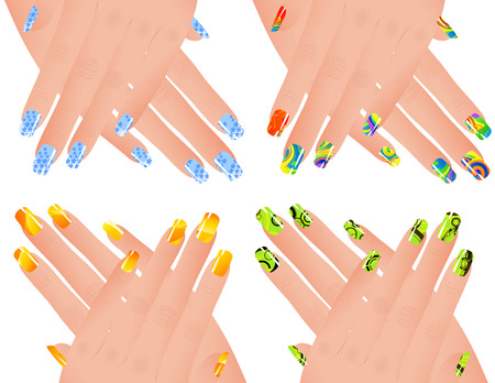 nail art: Colored manicure