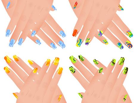 fingernail: Colored manicure