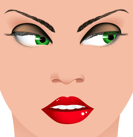 Sexy woman face Stock Vector - 6642120