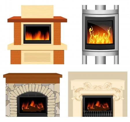 Fireplace set Stock Vector - 6702867