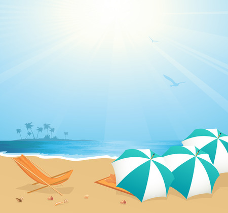 Leisure on the beach Vector