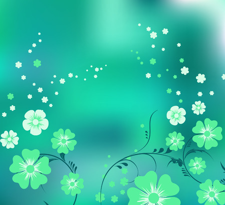 Magic green flowers Vector