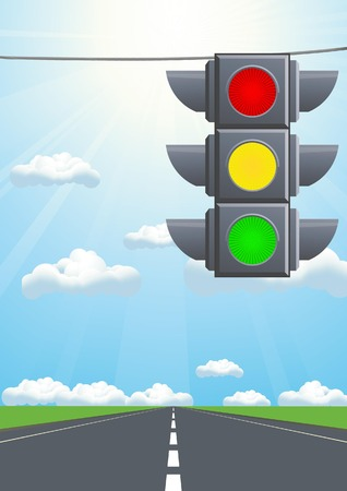 Traffic light in the sky Stock Vector - 6748752
