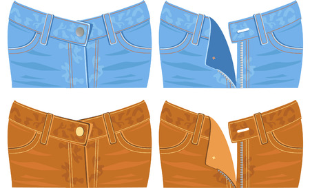 breeches: Jeans Illustration