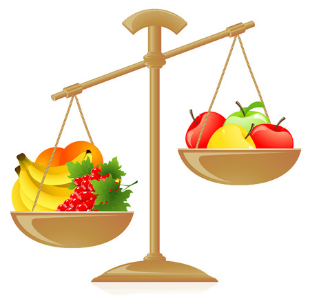 Fruit weight Stock Vector - 6841940