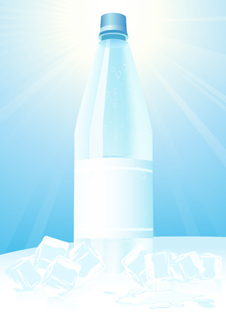 Mineral water and ice,  illustration Vector