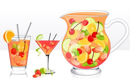 mezcla de frutas: Zumo de frutas, ilustraci�n