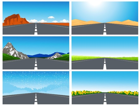 Road set,   illustration Stock Vector - 6968170
