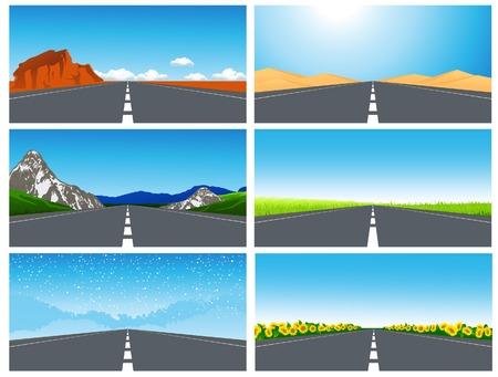 Road set,   illustration Vector