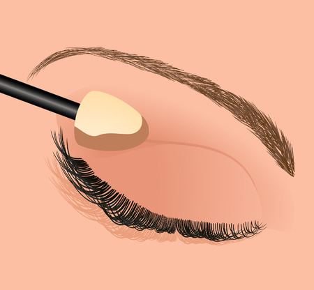 make up brush: Mascara perfetto