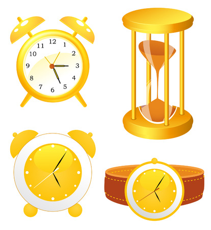Clock collection,  illustration Stock Vector - 7119891