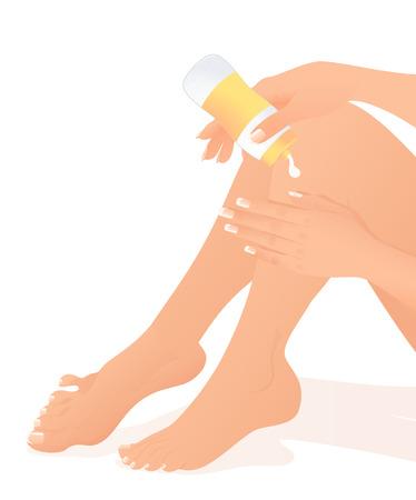 Body care, illustration Vector