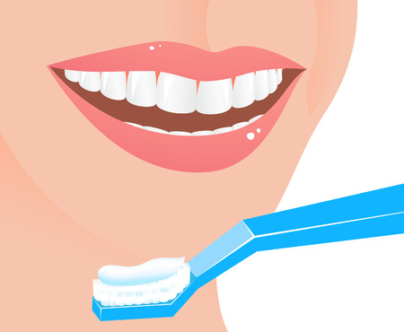 mouthwash: Perfect smile,  illustration,