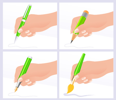 Writing and drawing,  illustration  Vector
