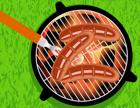 browned: Barbecue,   illustration Illustration