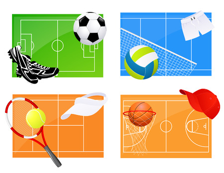 Sport backgrounds, illustration Vector
