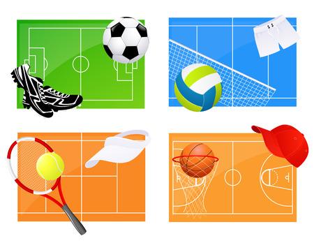 volleyball net: Sport backgrounds, illustration Illustration