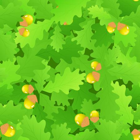 Oak leaf seamless background Vector