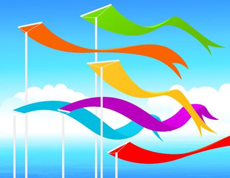 libbenő: Fluttering flags, illustration