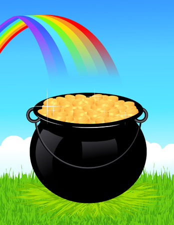 Money cauldron,  illustration Stock Vector - 7676975