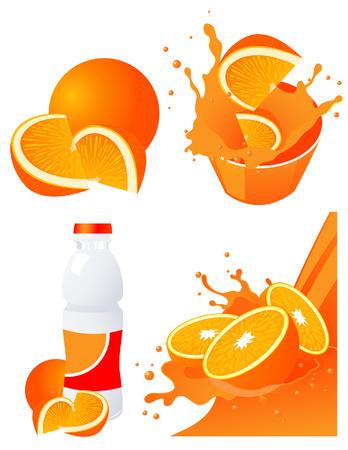Orange products,    illustration  Vector