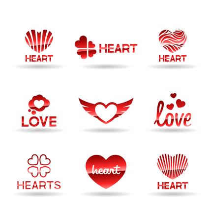 Love icons set.