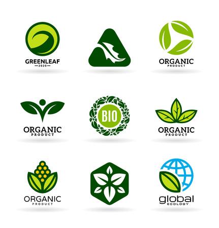 Organic icons set Illustration