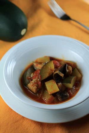 stewed: Stewed vegetable dish