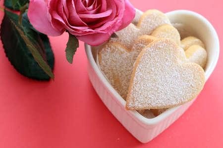 shaped: Heart shaped cookies Stock Photo