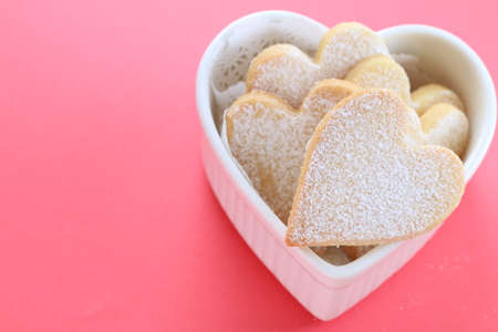 shaped: Heart shaped cookies Stock Photo