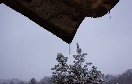 Two stalactites in Vence, south of France, close to Alpes Banque d'images - 111062537