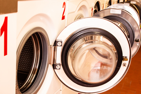 washing machines in a laundry in Vence, France Banque d'images - 111062630