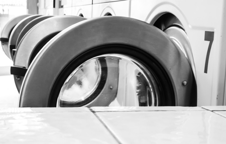 washing machines in a laundry in Vence, France Banque d'images - 111062632