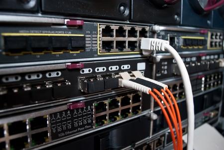 centro de computo: Conexiones de servidor Foto de archivo
