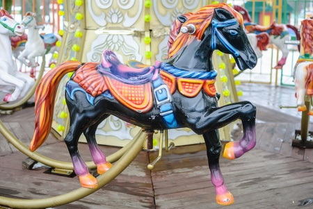 turnabout: carousel in the park of Brest Stock Photo
