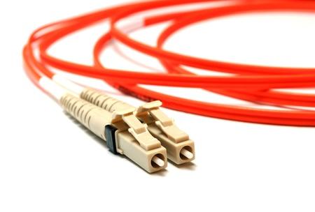 zwei Single-Mode-optische Steckverbinder LC-Vorderansicht