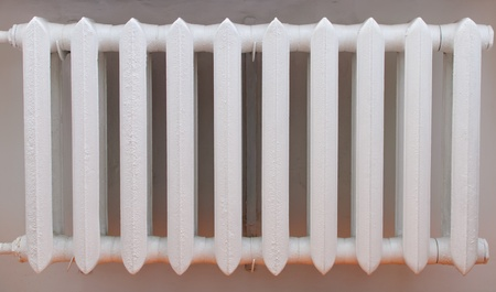 Old iron radiator for home  photo