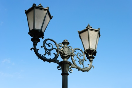 gas lamp: Forged street lamp
