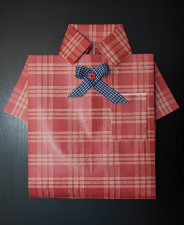 Gift wrapping as a shirt  photo