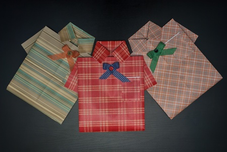 Gift wrap in the form of a shirt  photo