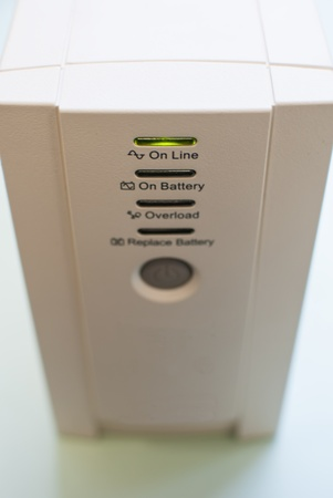 Uninterruptible power supply, operating in a mode On Line  Top view of the front  Stock Photo - 13081458