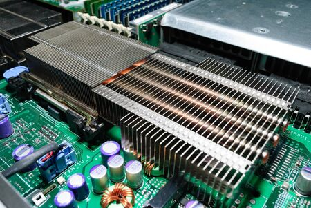 temperature controller: Processor heat sink on the server motherboard.
