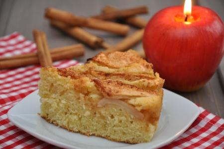 apple cinnamon: Torta di mele Archivio Fotografico