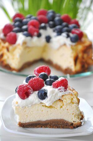 Cheesecake with Berries Stock Photo - 18223289